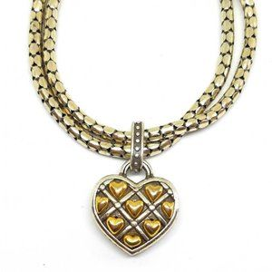 Brighton Quilted Heart Charm Bracelet #121